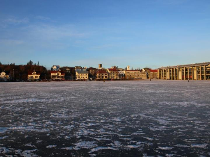 Islande lac gelé