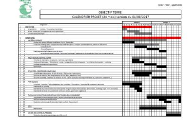 Calendrier prévisionnel du projet