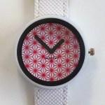 red pattern watch