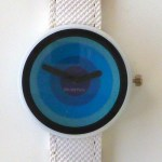 retro circles watch