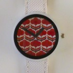 retro poppy watch