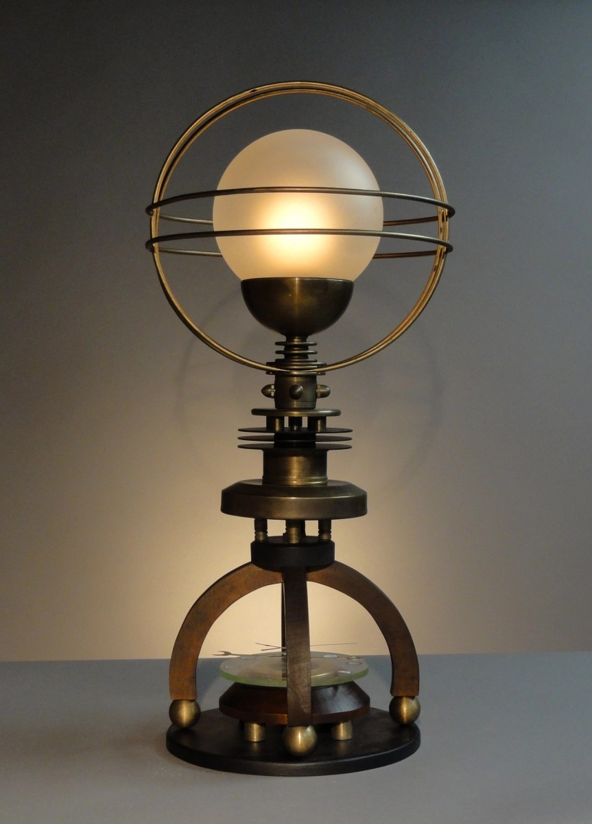 Sculpture  Petite Cosmo Astronomical Steampunk Table