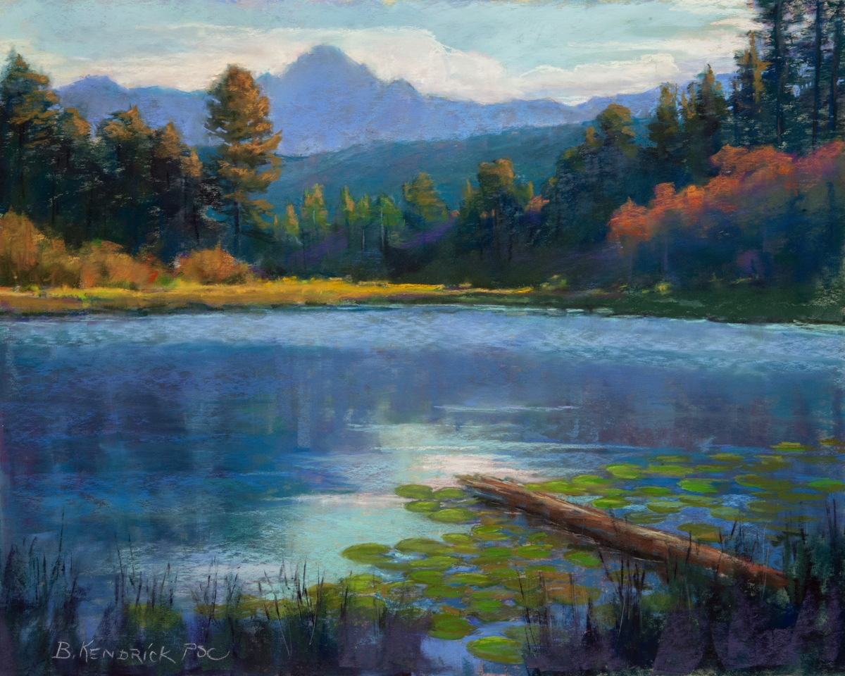 landscape pastel paintings serenity