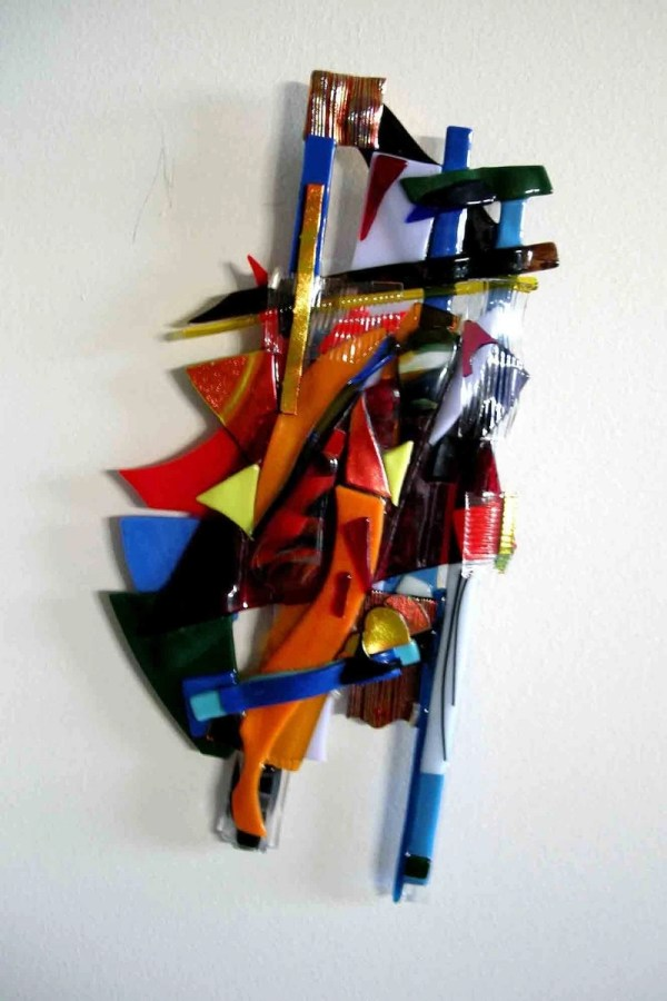 Abstract Glass Sculpture Wall Art