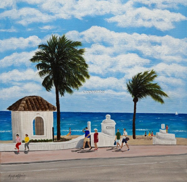 "Painting ""ft. Lauderdale Walk"" Original Art Deborah"