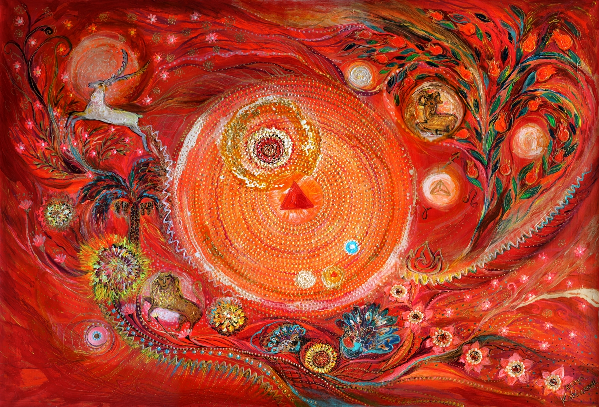 Painting Mandala Series 2 Element Fire Original Art