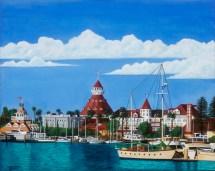 Paintings Hotel Del Coronado Marina View - 16 X 20