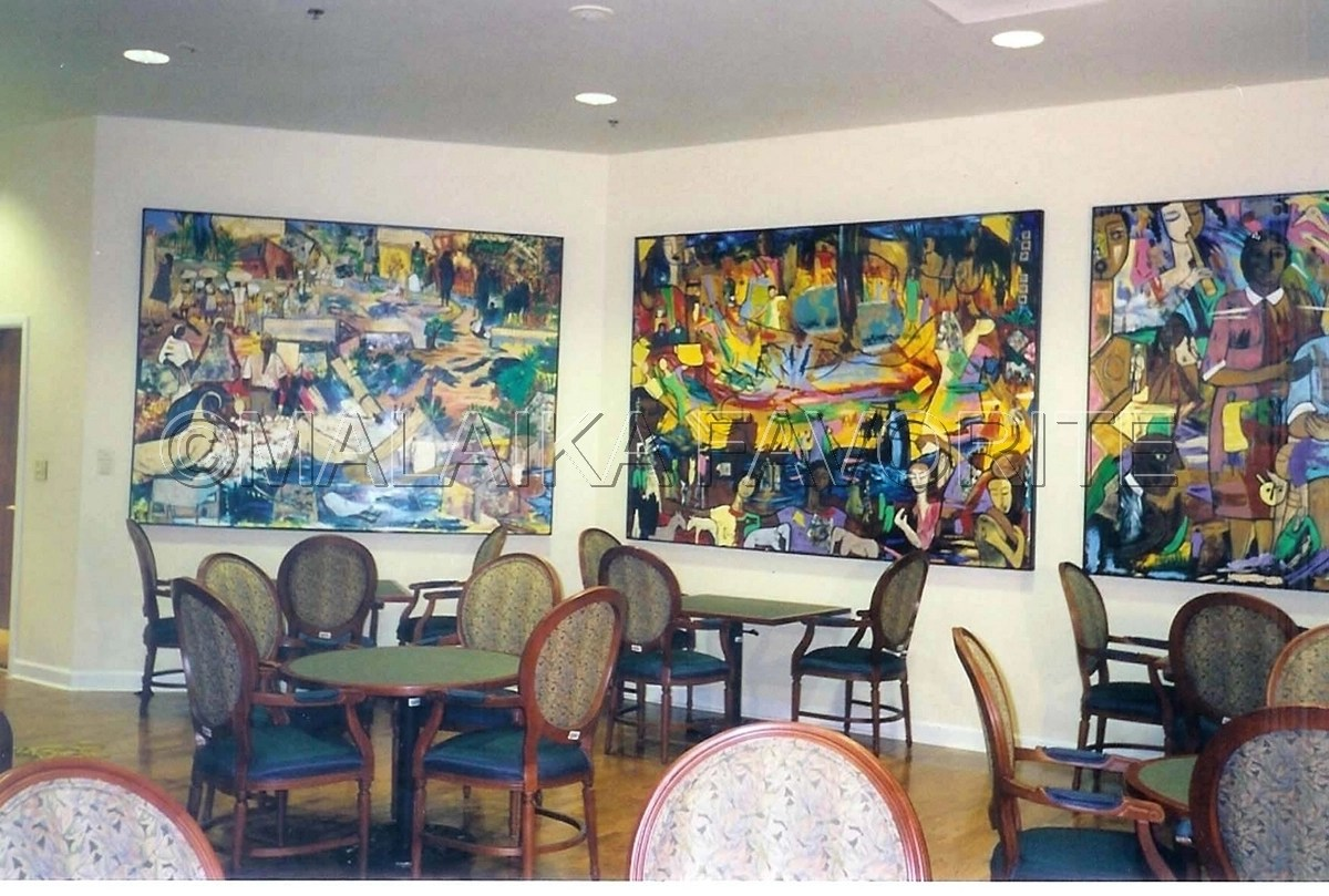 Mixed Media  HARRIET G DARNELL DINING ROOM PAINTINGS