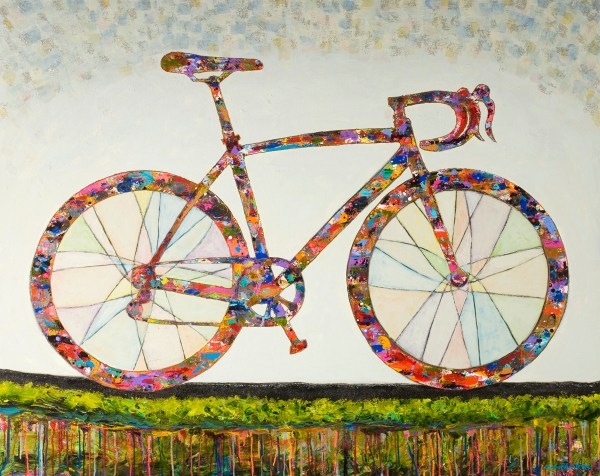 Abstract Acrylic Paintings Endless Bike Path