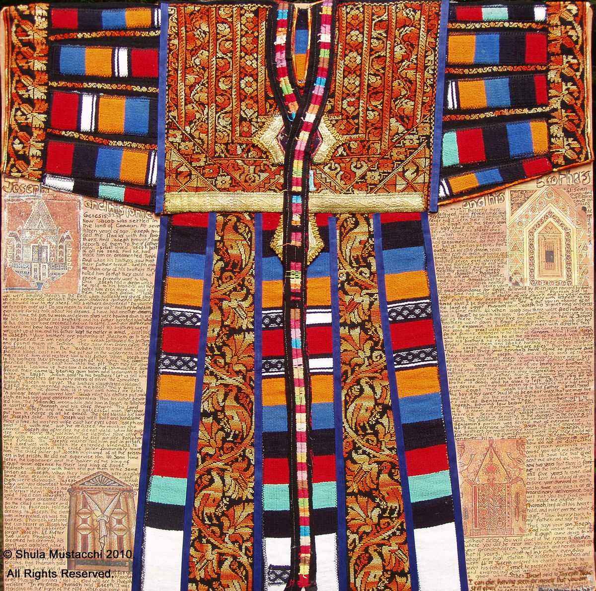 Fiber Art Joseph S Coat Original Art By Artist