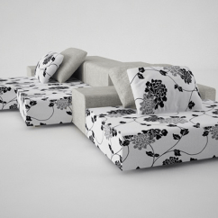 Living Room Desighn Leather Chair With Ottoman Designapplause | Extra Wall Sofa. Piero Lissoni.
