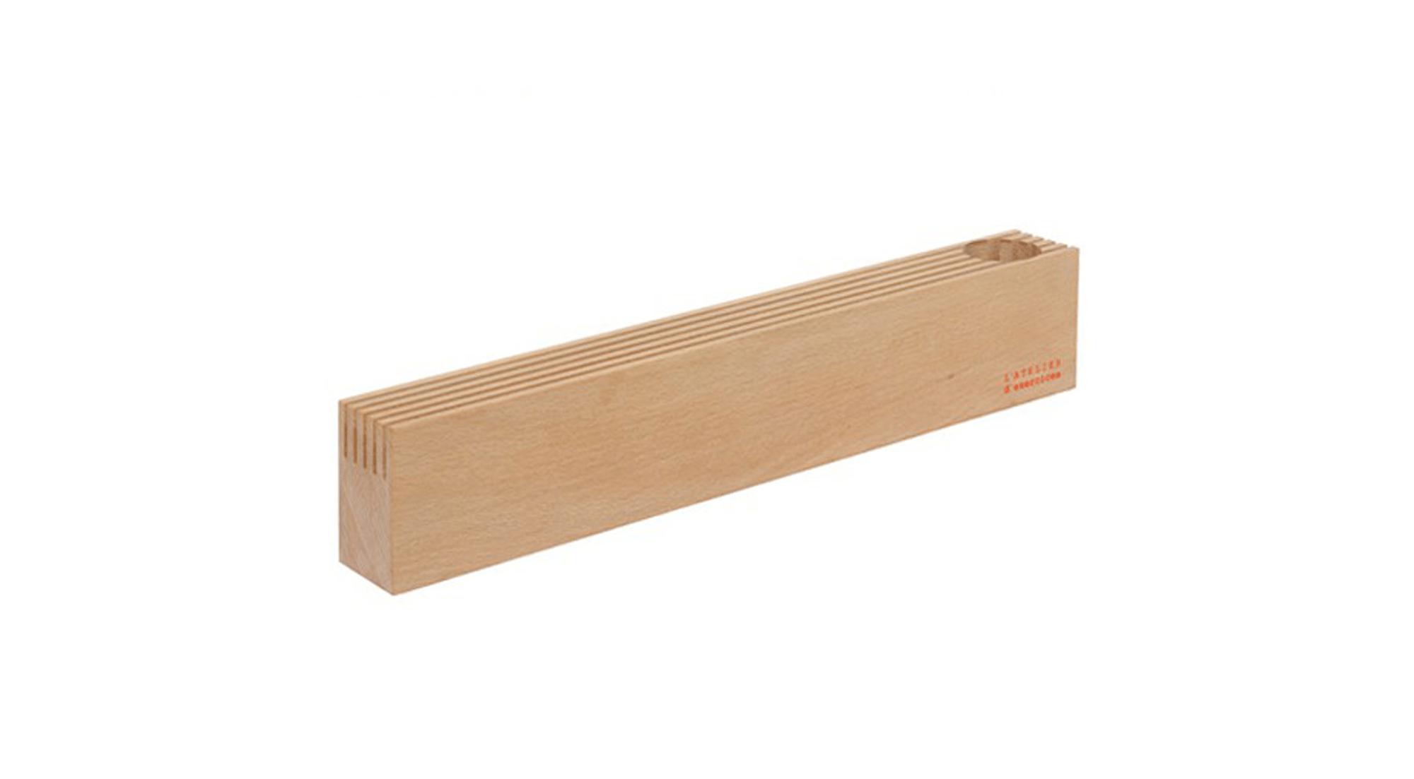 DesignApplause Wood Block Desk Organizer Latelier D