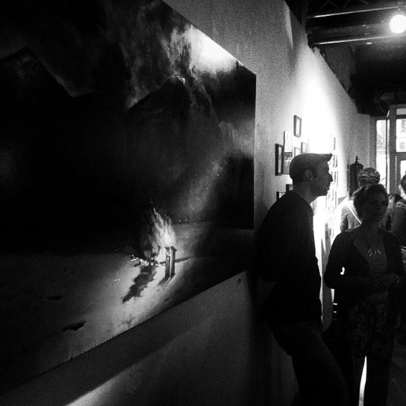 #Großformat-#Kunst bei der #FeuerUndFlamme #Kunstausstellung und #Auktion in der #Raststätte #Aachen Instagram