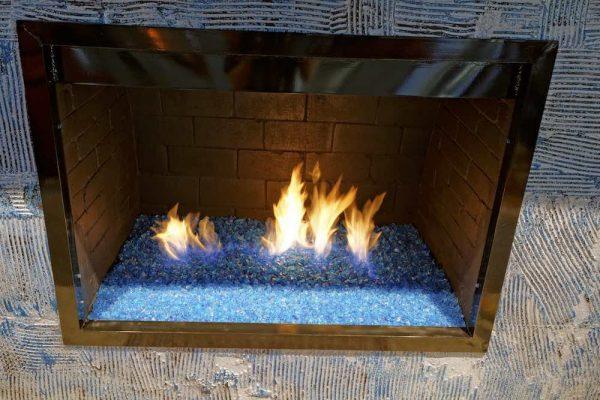 Fire Glass Fireplace