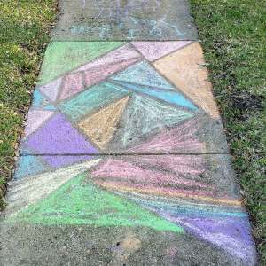 Neighborhood Sidewalk Chalk Art