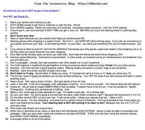 Covid-19-Advice-List