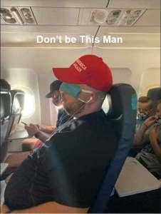 """MAGA hat wearing """"rebel"""" on a plane"""