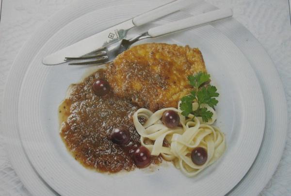 Fino glavno jelo s bobama crnoga grožđa (iz Hrvatskih jela na suvremeni način)