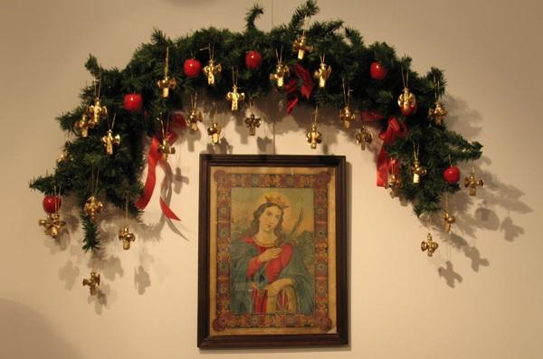 S izložbe: domišljata kombinacija starinskoga i modernoga u božićnome ukrasu (Snimila Božica Brkan / Acumen)