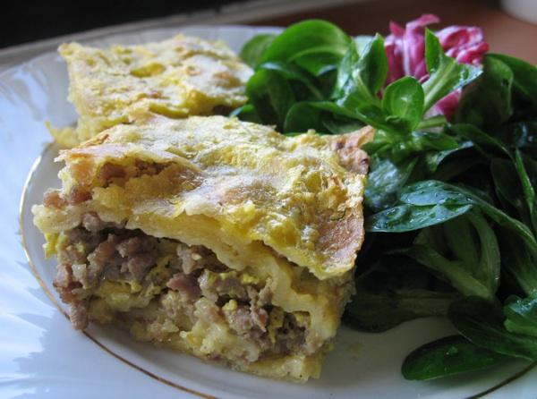 Pita s mesom poslužena kao glavno jelo sa salatom (Snimila Božica Brkan / Acumen)