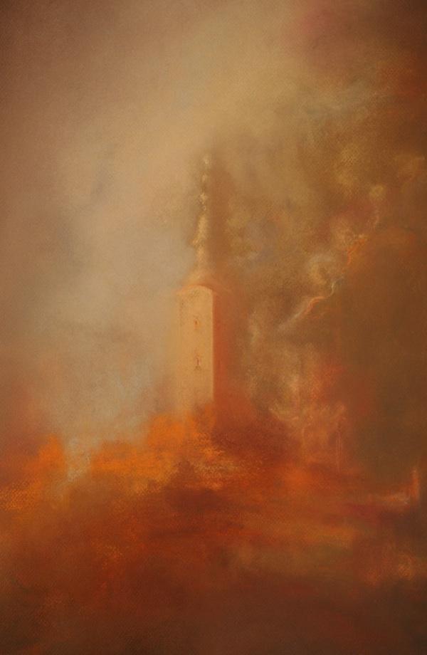 Trški vrh, pastel Božene Slunjski (Presnimio Željko Slunjski)