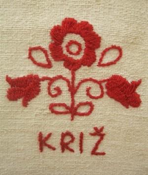 Detalj veza s izložbenoga stola Kriških oblizeka na zagrebačkoj Slatkoj hrvatskoj (Snimio Miljenko Brezak / Acumen)