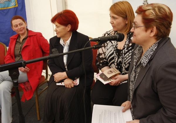 Sudionice okrugloga stola (sdesna nalijevo) Gordana Radaković, Sonja Borovčak, Ivana Posavec Krivec i Božica Brkan (Snimio Dražen Kopač / Acumen)