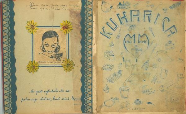 Naslovnica bilježnice s recepturama iz prošloga stoljeća