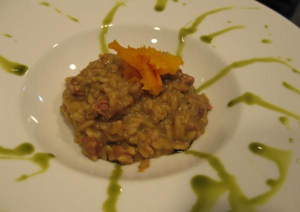 Rižoto, tek jedno od jela začinjeno bučinim uljem na oduševljenje kušača (Snimila Božica Brkan / Acumen)
