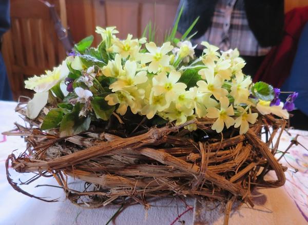 Maštoviti jaglaci na lozovini sa stola Štefice Sačeri Darinke Sačer, koje su zastupale selo Hižakovec (Snimila Božica Brkan/ Oblizeki)