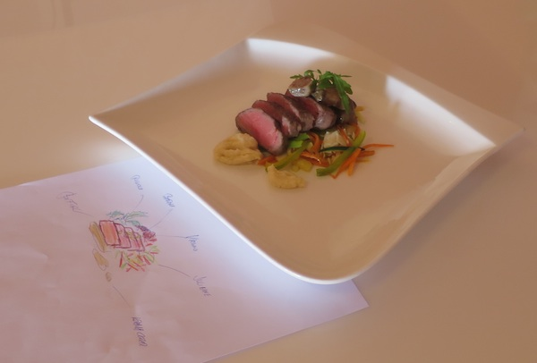 Crtež i izvedba: biftek (Snimila Božica Brkan / Oblizeki)