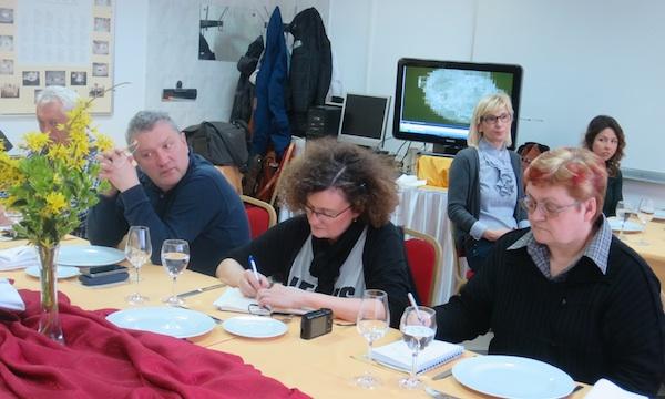 Na prezentaciji koncentrirano slijeva nadesno: Rene Karaman iz Menuja, Sunčana Batušić iz Dobre hrane i Božica Brkan iz Oblizeka (Fotografija Miljenko Brezak / Oblizeki)