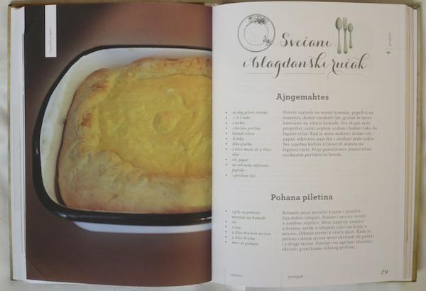 Dio zanimljive i vrijedne knjige Iz dugoselskih kuharica, koju kao priređivačica potpisuje Vesna Vladić (Fotografija Oblizeki)