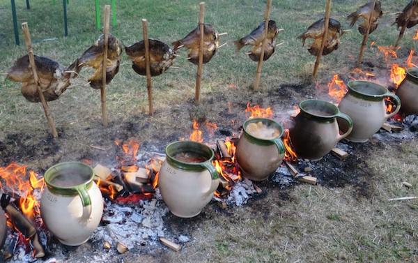 Niska ćupova gra kuha, a niska šarana u rašljama s epeče (Fotografija Božica Brkan / Oblizeki)
