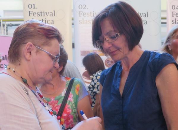Branka Mucak Pugar u razgovoru s Božicom Brkan za Oblizeke (Fotografija Miljenko Brezak / Oblizeki)