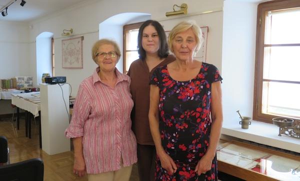 Autorice izložbe Palma Klun Posavec, Ljiljana Posavec i Tea Holler (Fotografija Miljenko Brezak / Oblizeki)