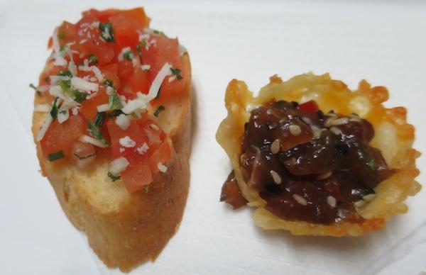 Jednostavna brusketa s rajčicom i košarica sa sirovom tunom (Fotografija Miljenko Brezak / Oblizeki)