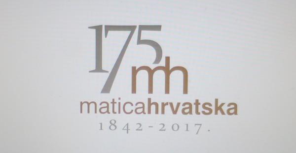 Slavljenički logo Matice hrvatske. Čestitke!