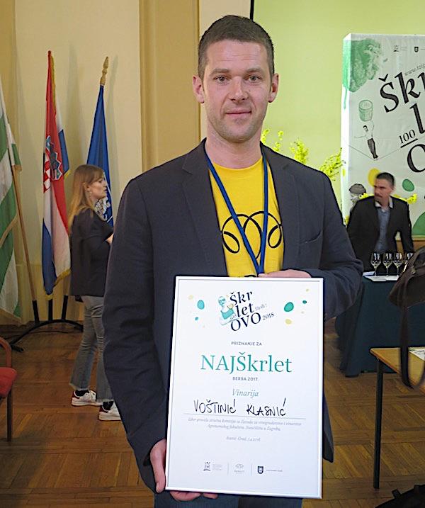 Poslije proglašenja: najbolji iz Vinarije Voštinić-Klasnić (Fotografija Miljenko Brezak / Oblizeki)