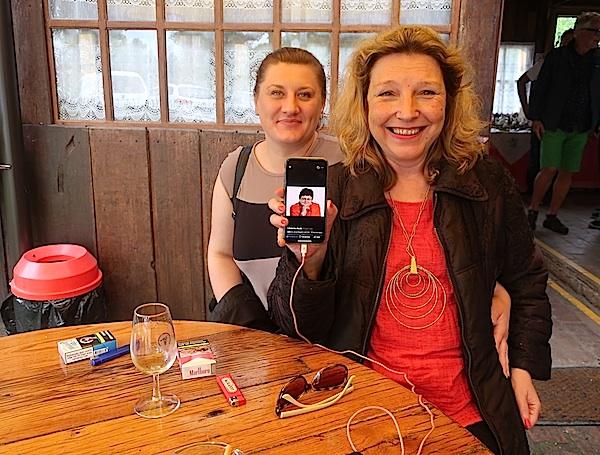 Oragnizatorica putovanja Željka Balja, Karin Mimica i eletronička Božica Brkan (Fotografija Oblizeki)