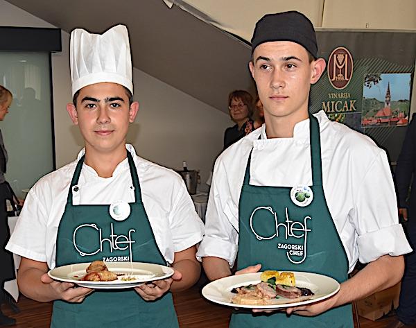 Budućnost zagorskoga ugostiteljstva: mladi natjecatelji kuhari Petar Čukman i Swnia Kožić iz Srednješkole Zabok (Fotografija Krapinsko-zagorska županija)