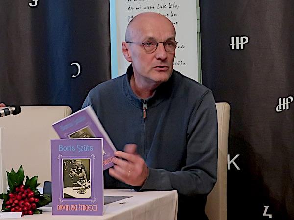 Boris Beck govori o Drvinjskim štiklecima na znanstvenom skupu uz 50. obljetnicu Kaja (Fotografija Božica Brkan / Oblizeki)