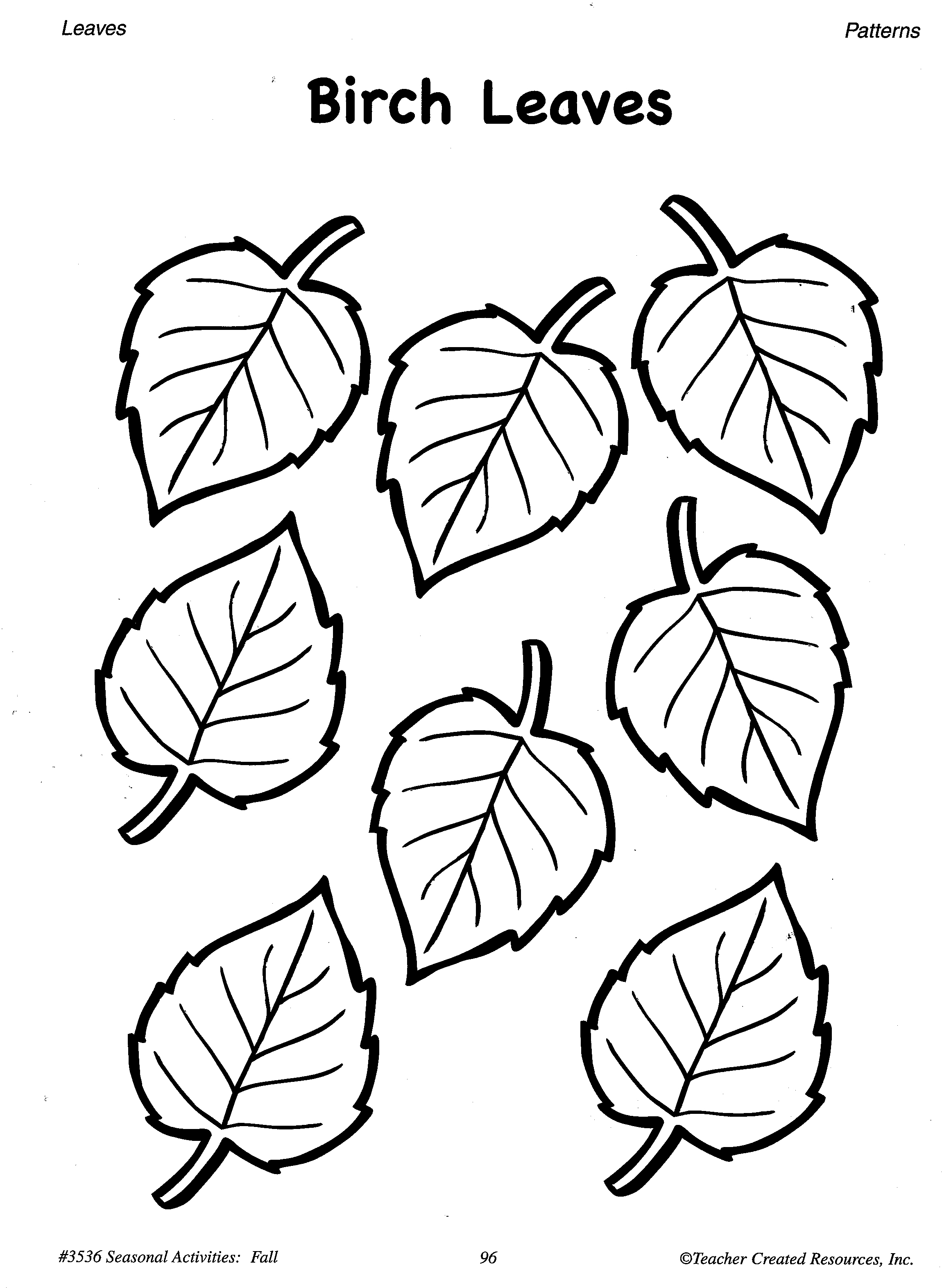 Printable Fall Leaves Patterns And Learning Activities