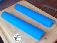 how to make a card holder from a pool noodle