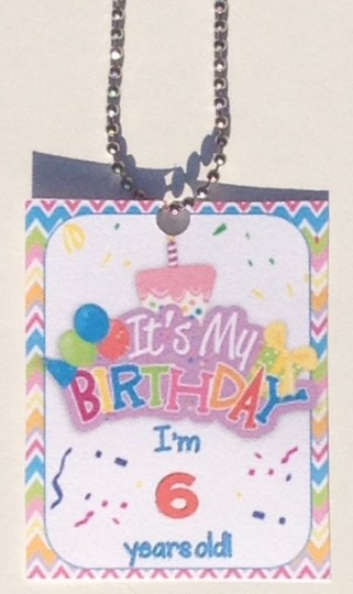 student birthday brag tags