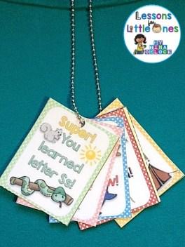 alphabet brag tag necklace