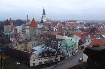 Una vista general de la ciudad vieja