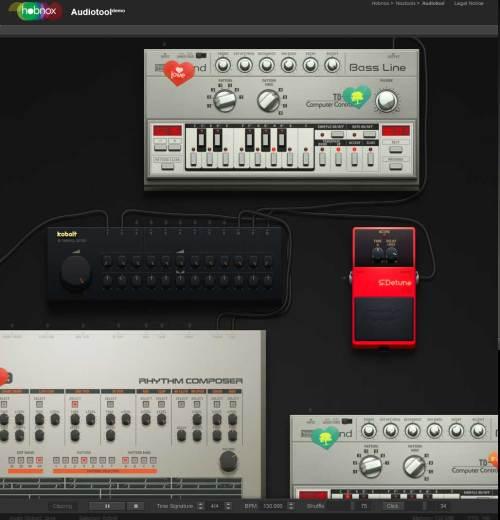 Captura de pantalla de Hobnox Audiotool