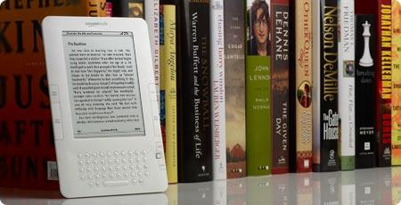 Foto del Amazon Kindle, el lector de libros electrónicos
