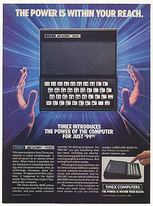 Anuncio del Sinclair 1000